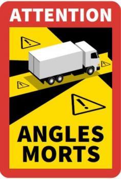 """""""Tote Winkel"""" Kennzeichnung für Fahrzeuge größer 3,5 Tonnen zGG in Frankreich vorgeschrieben, 3 er Set"""