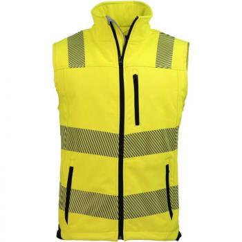 Warnschutz-Softshellweste Prevent Trendline, Farbe warngelb/schwarz, Gr. XL