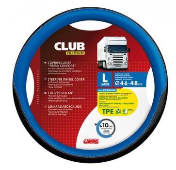 Club-Lenkradhülle mit Komfortgriff aus TPE - L - Ø 46/48 cm - Blau